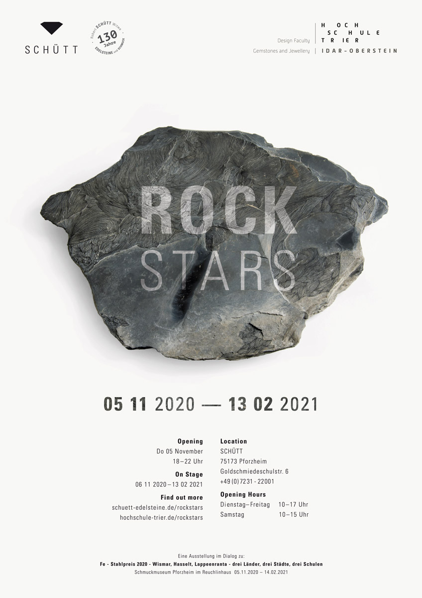 ROCKSTARS exhibition ausstellung schuett pforzheim campus idar oberstein schmuck edelsteine